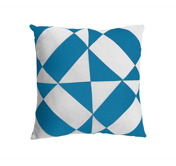 Coussin azulejos azur/blanc
