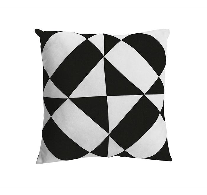 Coussin azulejos noir/blanc